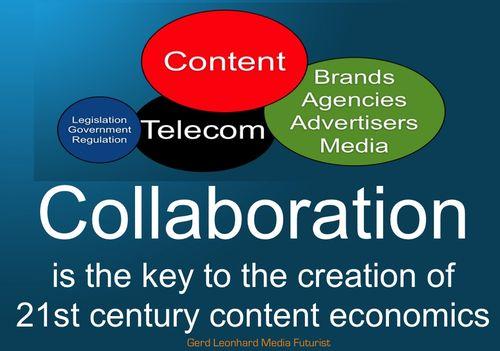 Collaboration 21st century content economics gerd leonhard