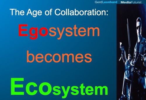 Age of collaboration ecosystem egosystem gerd leonhard futurist