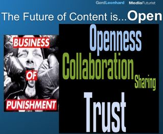 Future of content is open gerd leonhard