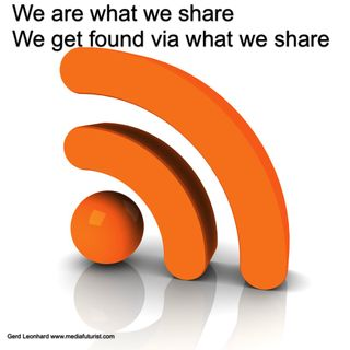 We are what we share Gerd Leonhard