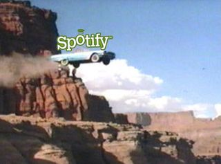 Spotify off cliff