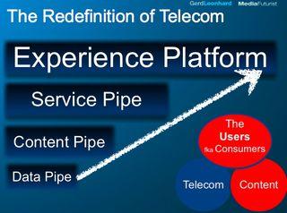 Experience platform redefine telecom Gerd Leonhard