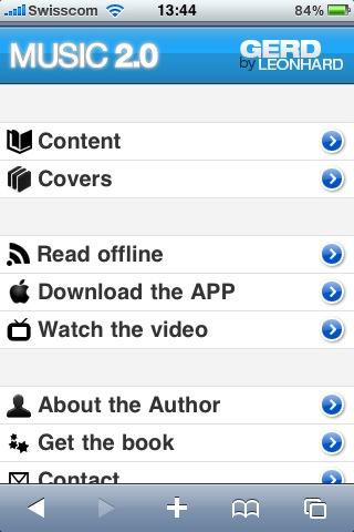 Music 2.0 mobile app gerd leonhard
