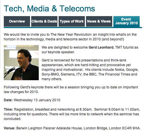 Gerd TMT event Jan 13 London