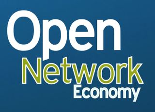 Open network eco logo blue