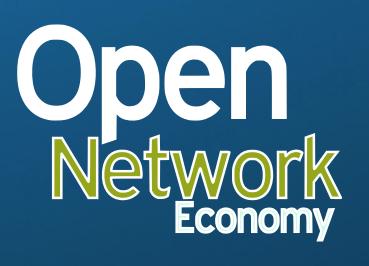 Open network eco logo blue