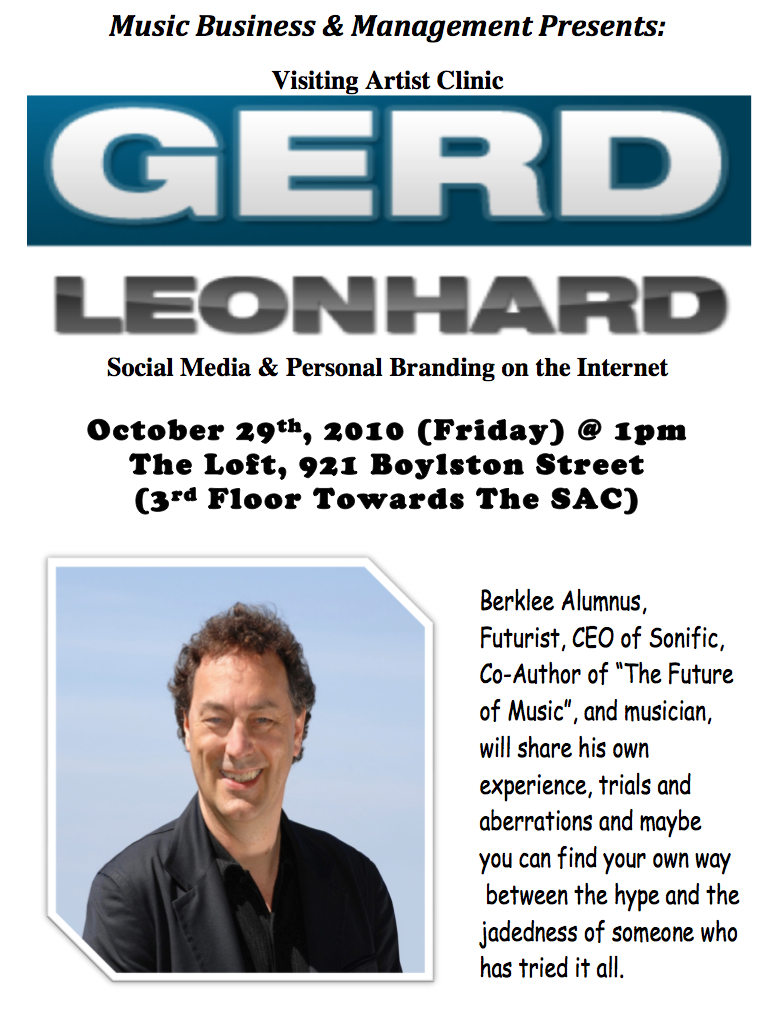 Gerd leonhard berklee workshop oct 2010