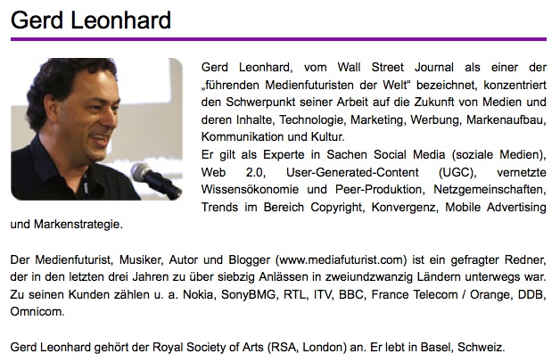 Gerd Leonhard short bio German