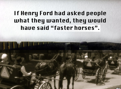 Henry ford faster horses innovation