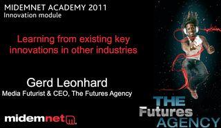 Gerd Leonhard MidemNet innovations