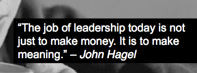 Jof of leadership make meaning quote