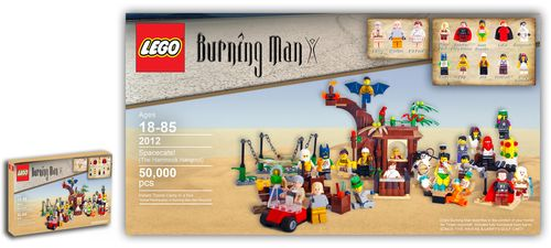 Burning man lego set flickr simon pearce NICE