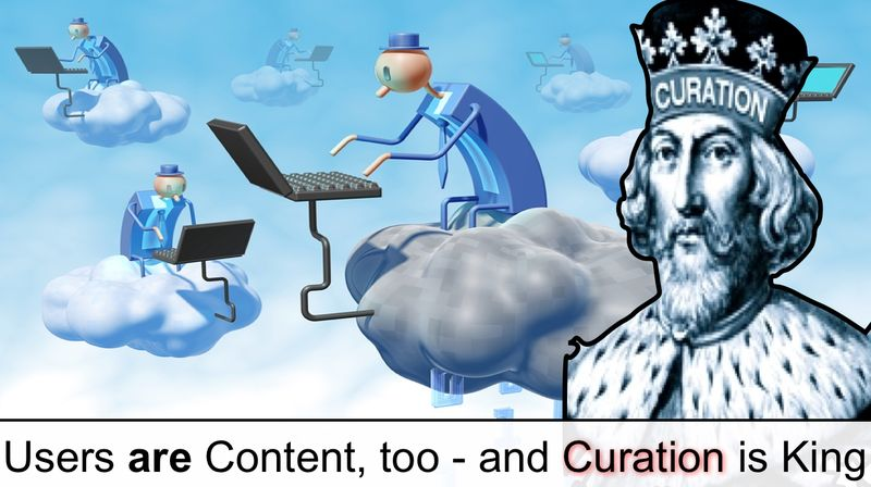 Users are content too and curation is kind