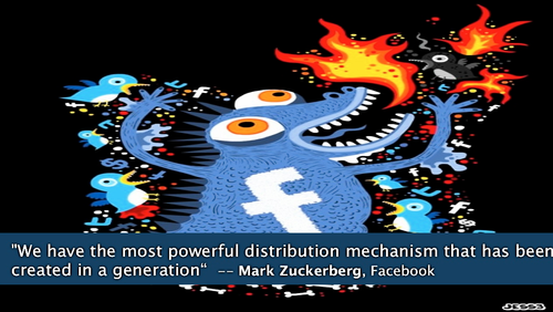 Facebook monster distribution