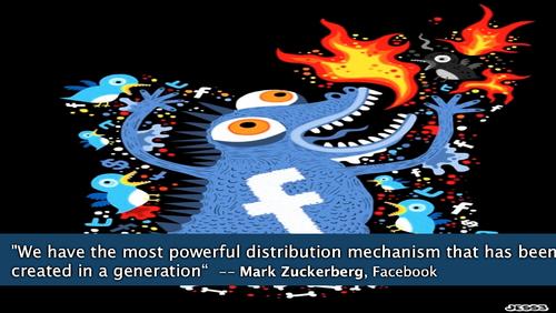 Facebook monster distribution