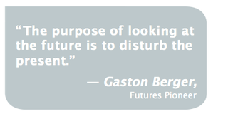 Quote future disturb the present