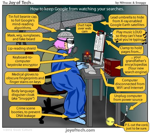 Google disguise data joke TOP