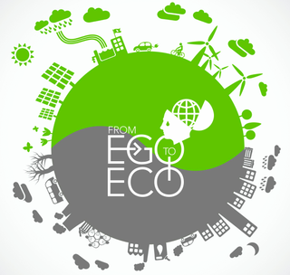 Ego to eco nice green logo
