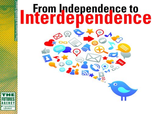 Independence to interdependence gerd leonhard futurist