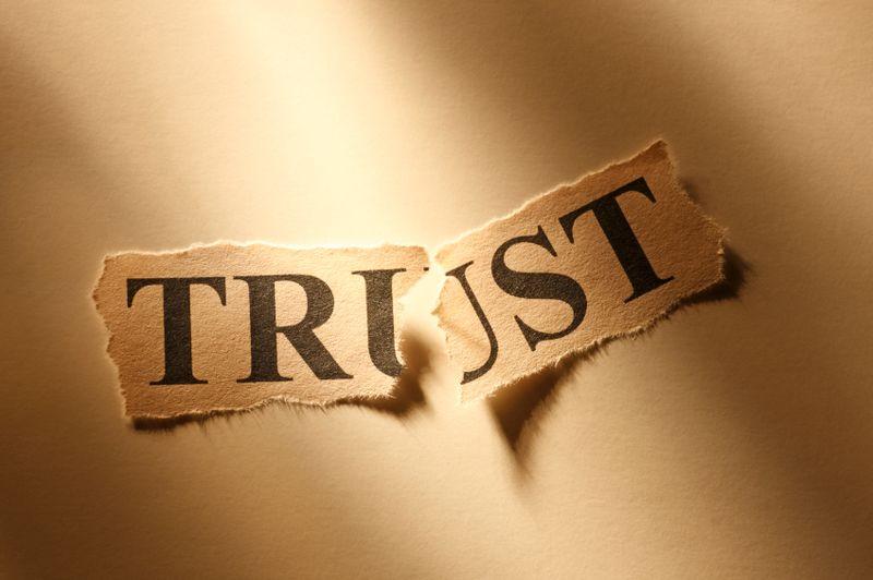 Trust broken top IS