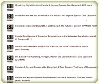 Futurist gerd leonhard podcasts july 2012