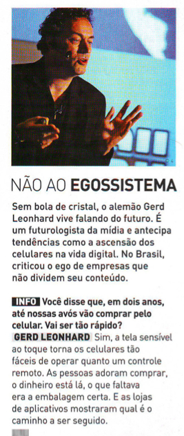 Gerd leonhard brazil banner futurist ego to eco