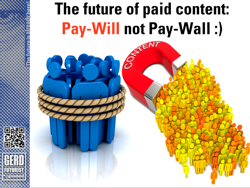 Future paid content paywall paywill gerd leonhard futurist